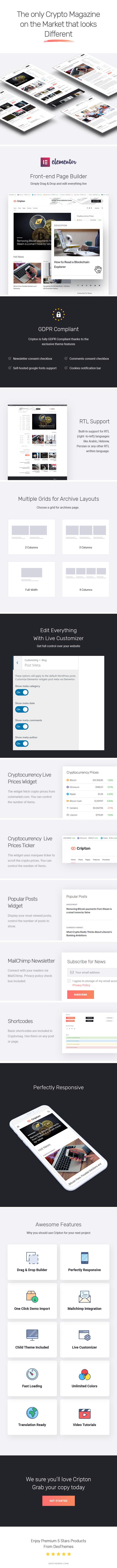 Cripton | Cryptocurrency Elementor Magazine WordPress Theme