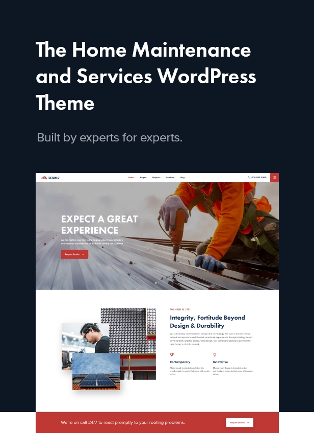 Estand | Home Maintenance Elementor WordPress Theme