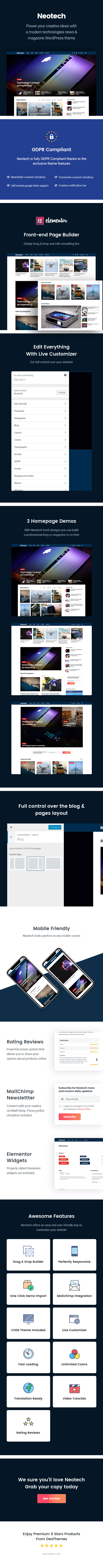 Neotech | Magazine Elementor WordPress Theme - 3
